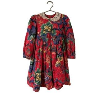Anne Savoy Floral Dress - Girl's Size 5T